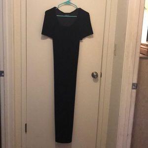 Black Velvet 1/2 sleeve dress